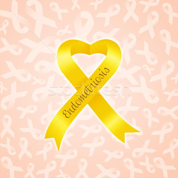 Stock photo: Yellow ribbon for Endometriosis