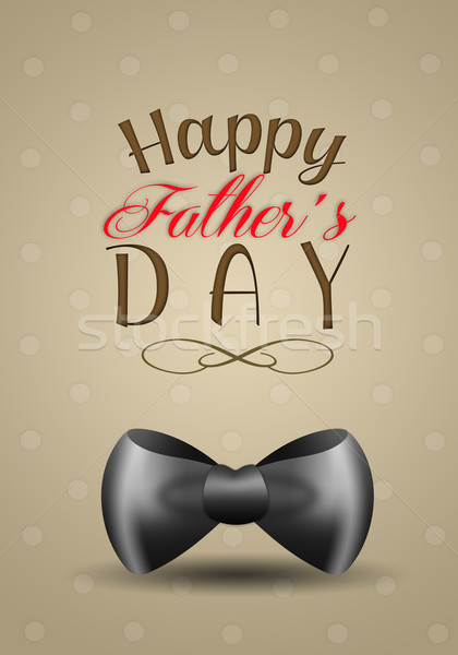 Szczęśliwy dzień ojca ilustracja czarny muszka strony ojciec Zdjęcia stock © sognolucido