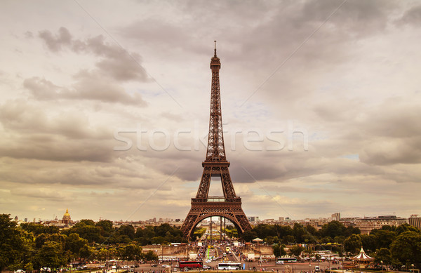 Эйфелева башня Париж город здании металл красоту Сток-фото © sognolucido