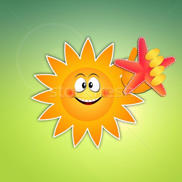 Sun with starfish Stock photo © sognolucido