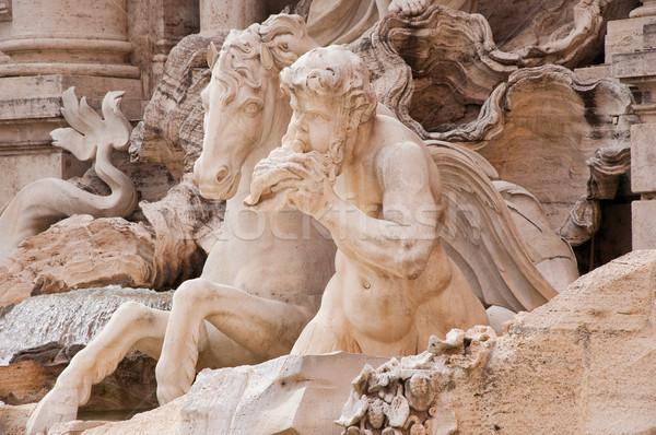 статуя Фонтан Треви Рим город путешествия городского Сток-фото © sognolucido