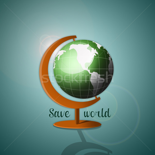 Globe for salvation of the planet Stock photo © sognolucido
