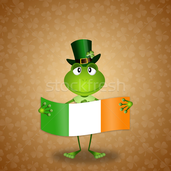 Frog with Ireland flag in St. Patrick's Day Stock photo © sognolucido