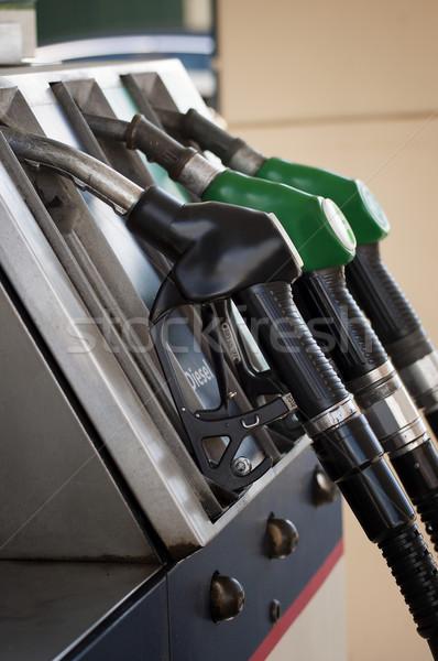 бензин насос бизнеса автомобилей стороны фон Сток-фото © sognolucido