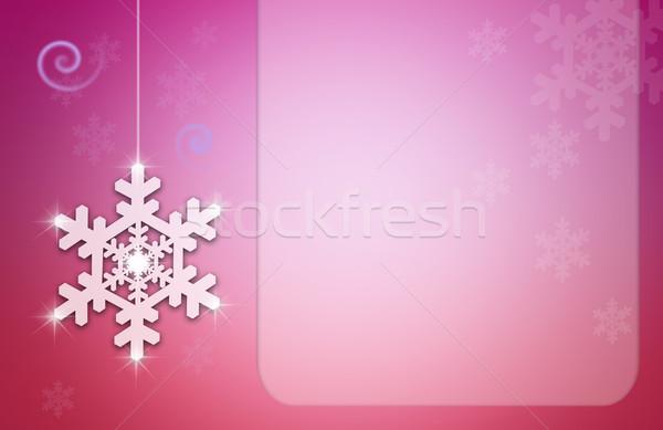 Noel kar taneleri tatil kutlamak kar tanesi örnek Stok fotoğraf © sognolucido