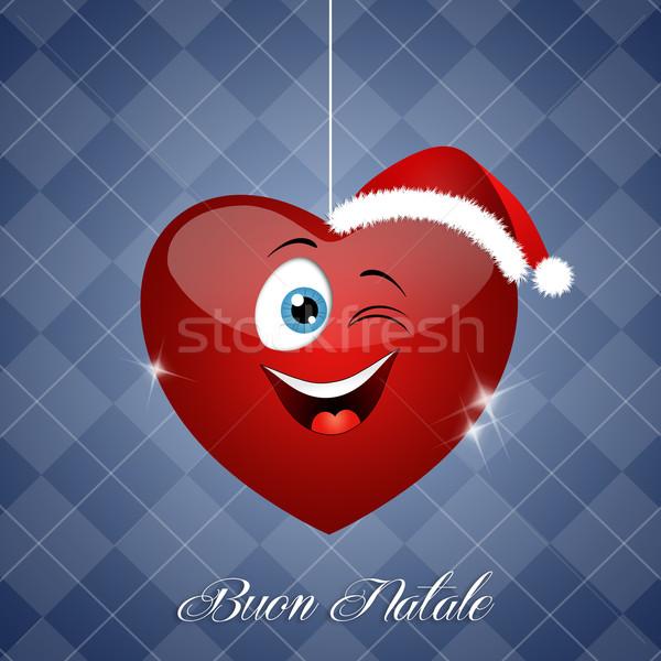 сердце Рождества смешные праздников украшение Nice Сток-фото © sognolucido