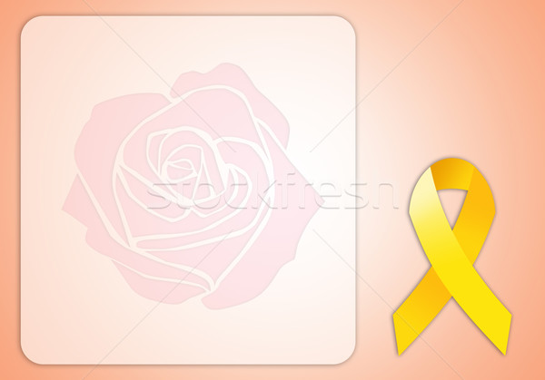 yellow ribbon on pink background Stock photo © sognolucido