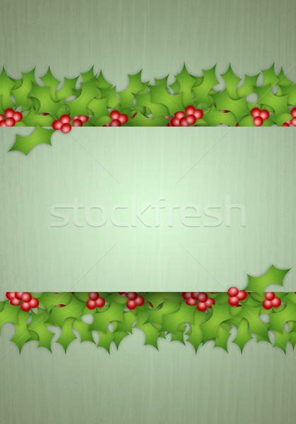 Holly decorations for Christmas Stock photo © sognolucido