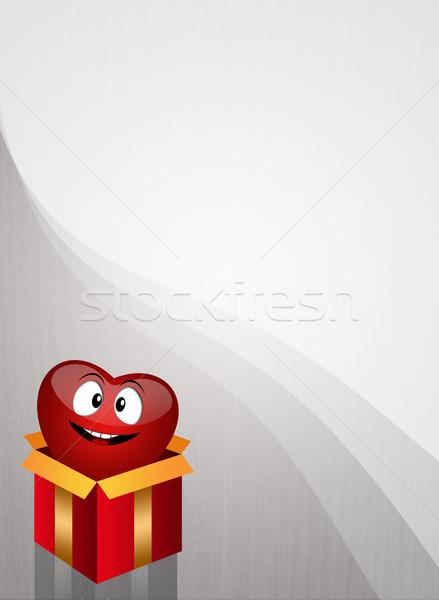 Organ bağış örnek kalp hediye kutusu tıbbi Stok fotoğraf © sognolucido
