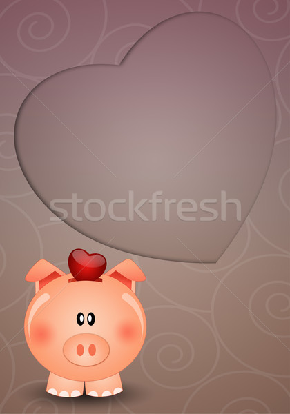 Piggy bank for save love Stock photo © sognolucido
