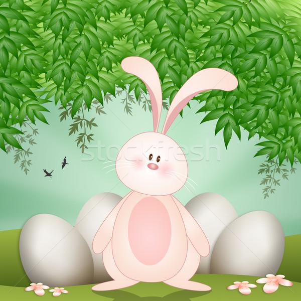 面白い ウサギ イースターエッグ 卵 イースター ストックフォト © sognolucido
