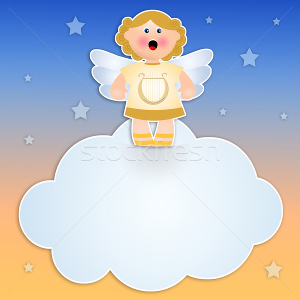 Angel on cloud  Stock photo © sognolucido