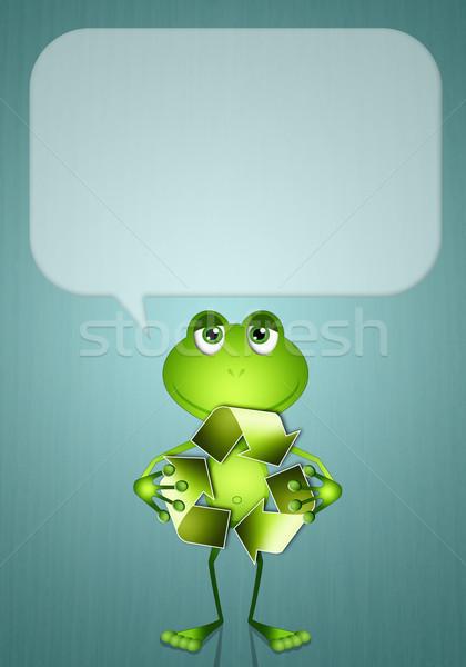 カエル リサイクル シンボル 面白い 生態学 世界 ストックフォト © sognolucido