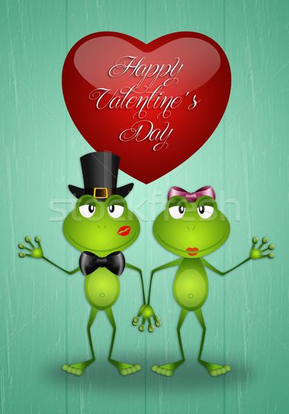 ストックフォト: 幸せ · バレンタインデー · 2 · 愛 · パーティ · 抽象的な