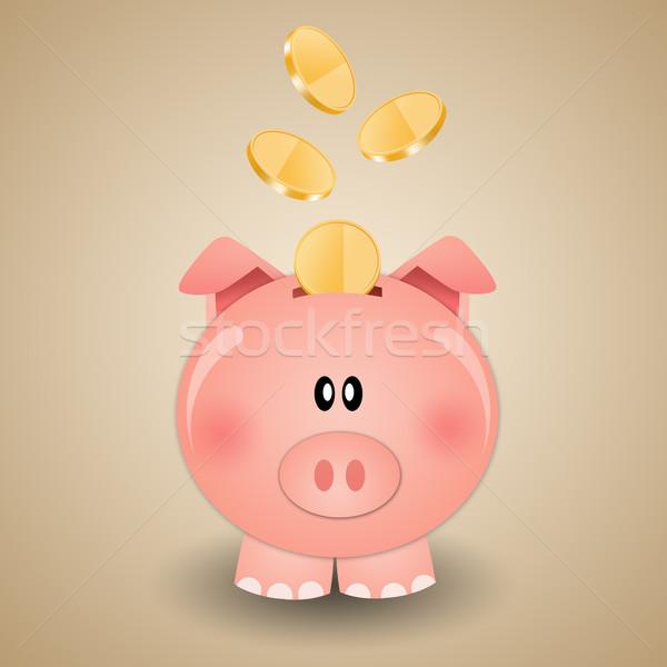 貯金 お金 実例 幸せ 銀行 豚 ストックフォト © sognolucido