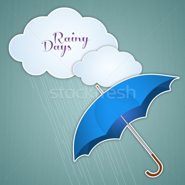 Clouds and umbrella for rainy days Stock photo © sognolucido