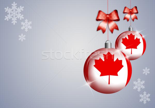 Quebec kış festival dünya kar bayrak Stok fotoğraf © sognolucido