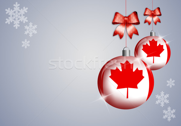 Quebec winter festival wereld sneeuw vlag Stockfoto © sognolucido