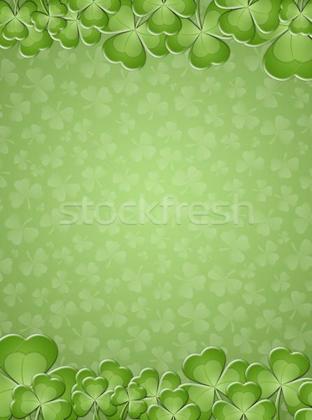 Zielone Dzień Świętego Patryka wiosną koniczyna sukces wakacje Zdjęcia stock © sognolucido
