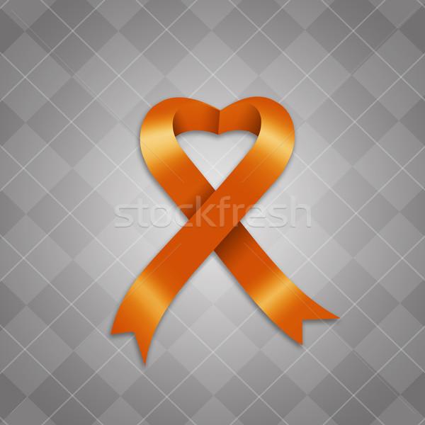 Awareness orange ribbon Stock photo © sognolucido