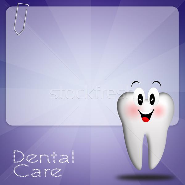 Tandheelkundige zorg illustratie tand medische geneeskunde tools Stockfoto © sognolucido