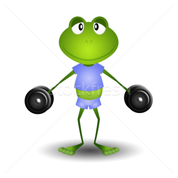 frog weightlifting Stock photo © sognolucido