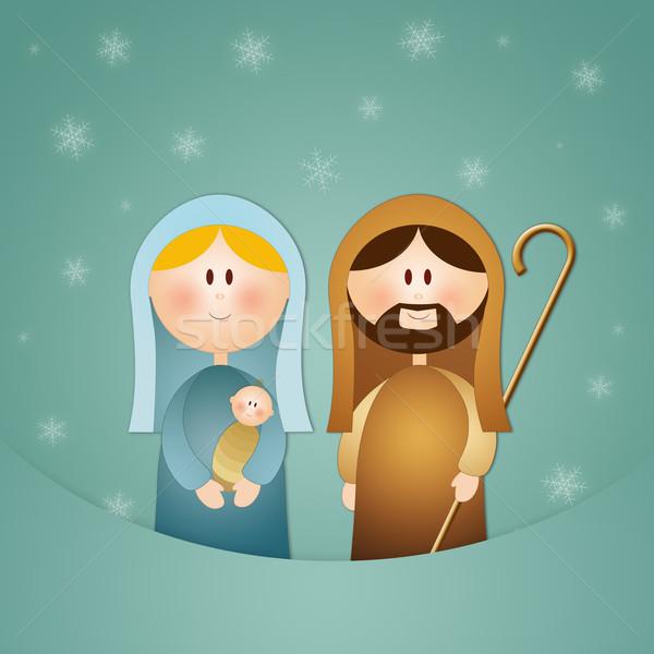 実例 シーン クリスマス イエス カード 宗教 ストックフォト © sognolucido