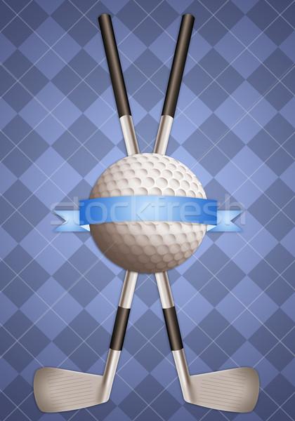 мяч для гольфа иллюстрация гольф-клубов спорт весело Кубок Сток-фото © sognolucido