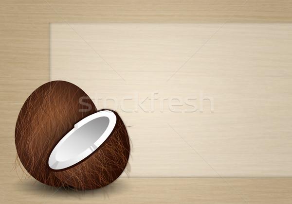 Funny coconut Stock photo © sognolucido