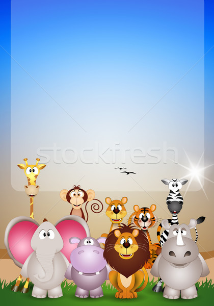 Animal of Savannah Stock photo © sognolucido