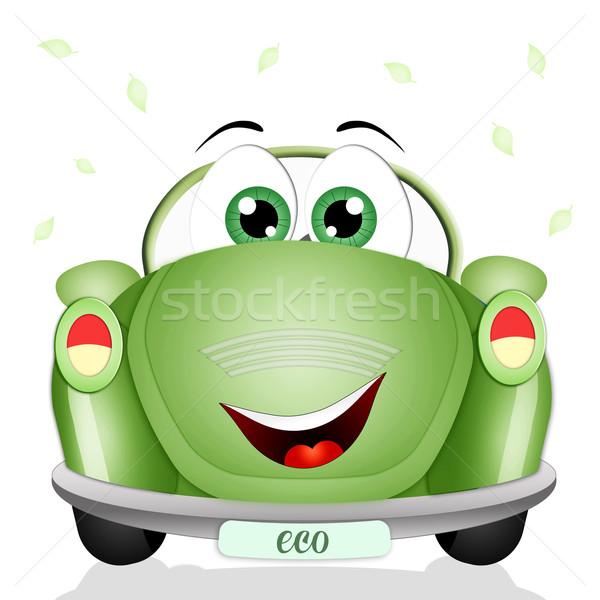 生態学的な 緑 車 実例 尊敬 惑星 ストックフォト © sognolucido