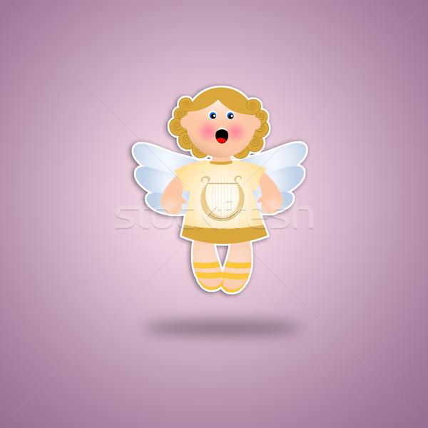 天使 バイオレット クリスマス 背景 天国 漫画 ストックフォト © sognolucido