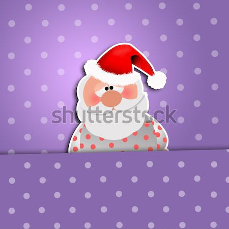 Christmas wishlist with Santa Claus Stock photo © sognolucido