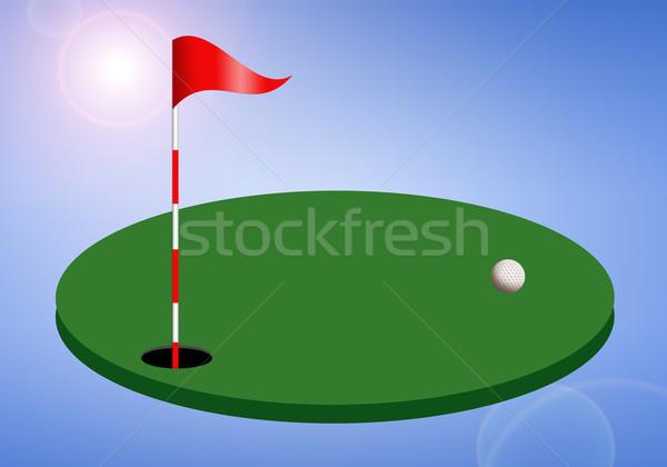 ストックフォト: ゴルフコース · 実例 · スポーツ · フィールド · 楽しい · シルエット