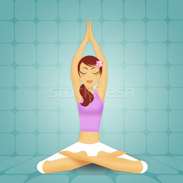 女性 ヨガ 実例 瞑想 行使 平和 ストックフォト © sognolucido