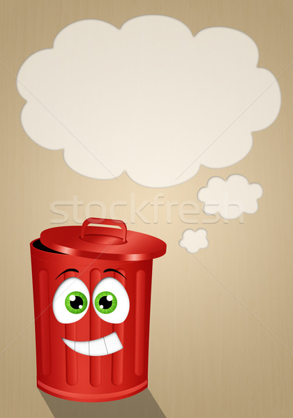 Funny red garbage for recycle Stock photo © sognolucido