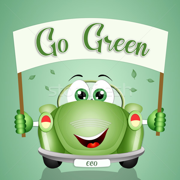 Verde ilustração respeito planeta natureza tecnologia Foto stock © sognolucido