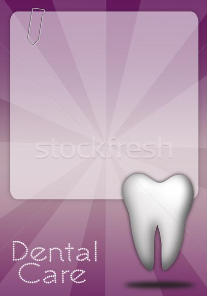 Zahnpflege Zahn medizinischen Medizin Werkzeuge Mund Stock foto © sognolucido