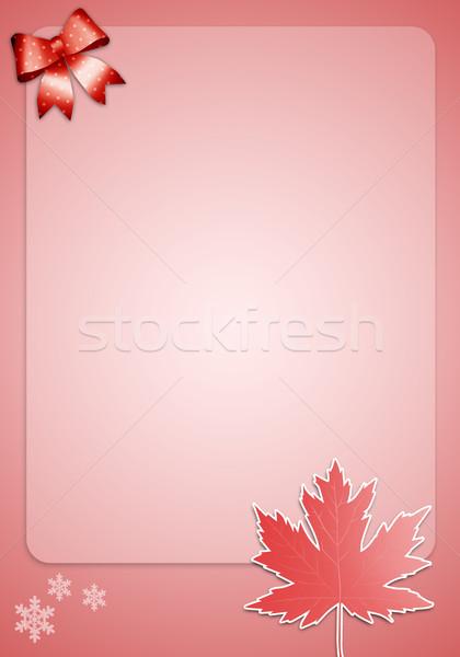 Quebec tél fesztivál levél világ hó Stock fotó © sognolucido