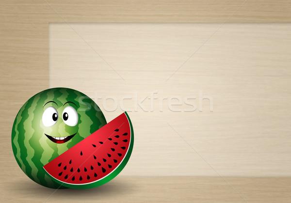 Funny watermelon Stock photo © sognolucido