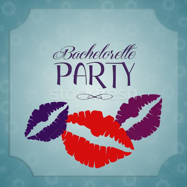 Bachelorette party invitation Stock photo © sognolucido