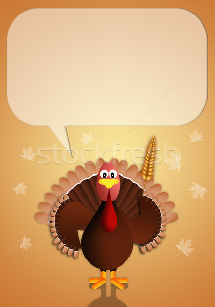 Turkey with cob for Thanksgiving Stock photo © sognolucido