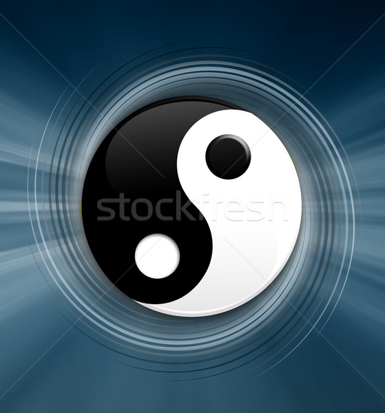 Yin Yang symbol Stock photo © sognolucido