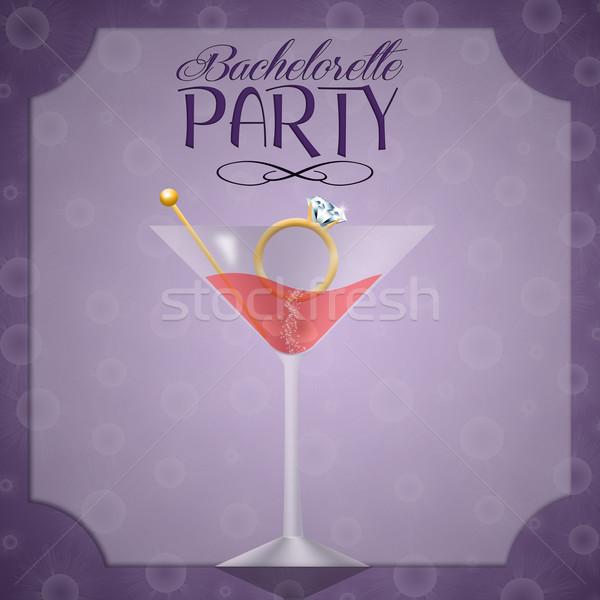 пить вечеринка иллюстрация приглашения женщину девушки Сток-фото © sognolucido