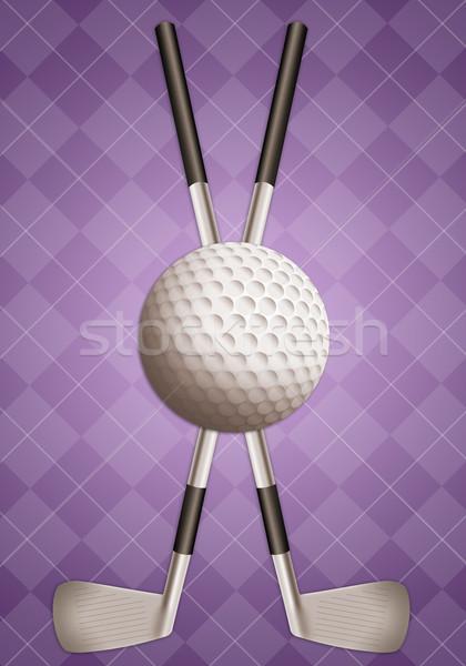 Golf felszerlés illusztráció golfütők golflabda sport Stock fotó © sognolucido