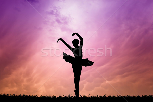 Ballet dancer Stock photo © sognolucido