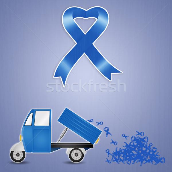 синий лента иллюстрация дизайна борьбе Сток-фото © sognolucido