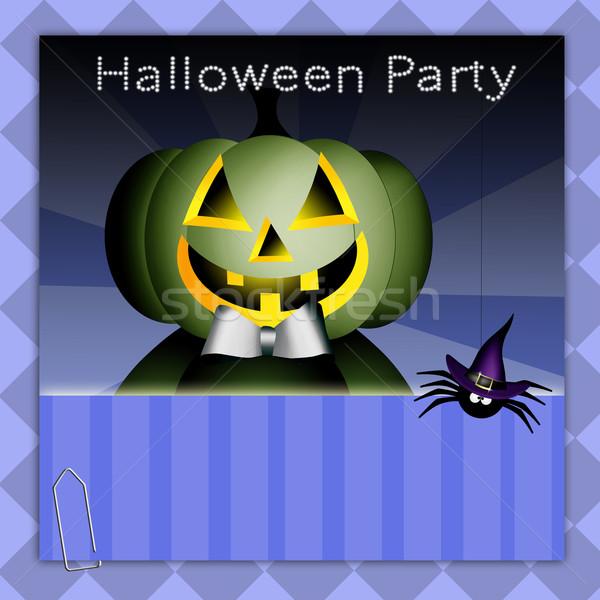 Szczęśliwy halloween strony hat uroczystości witch Zdjęcia stock © sognolucido