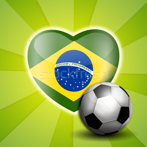 Fútbol mundo taza Brasil ilustración deporte Foto stock © sognolucido