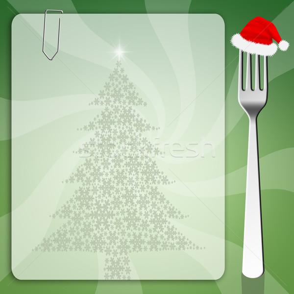 Рождества меню снега фон приготовления список Сток-фото © sognolucido